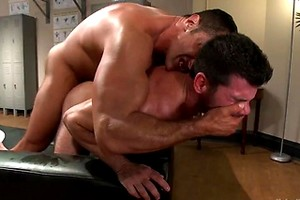Huge muscles, raging hard cock and don't forget the oil!, Added: 2017-10-18, Length: 00:01:02
