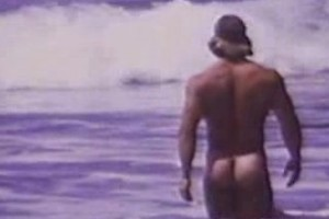At the beach, an exhibitionist is showing his sexy curves, Added: 2017-12-16, Length: 00:02:01